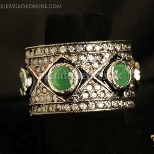 victorian,Ring,emerald, green,ruby, red,diamond, white