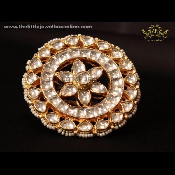 The royal kundan studded ring