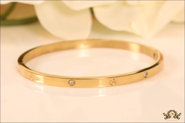 78188ad41f4 Cartier Style Gold Plated bracelet - The Little Jewel Box